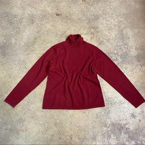 Orvis 100% Cashmere Boxy Turtleneck Sweater Medium